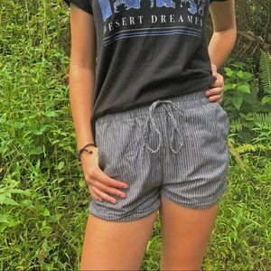 COUTURE striped shorts